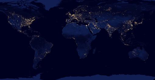 City Lights 2012 - Flat map