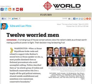 World Magazine article